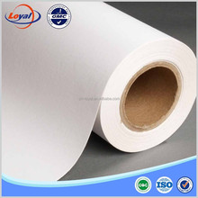 Self adhesive backed light fabric for art inkjet printing canvas