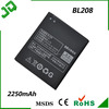 OEM NEW Battery For Lenovo S920 Smartphone BL208 2250mAh BATTERY