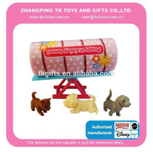 baby toy animal figurines sets with seesaw plastic