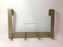 Over-the-door Clothes Hanging Rack with 4 Hooks