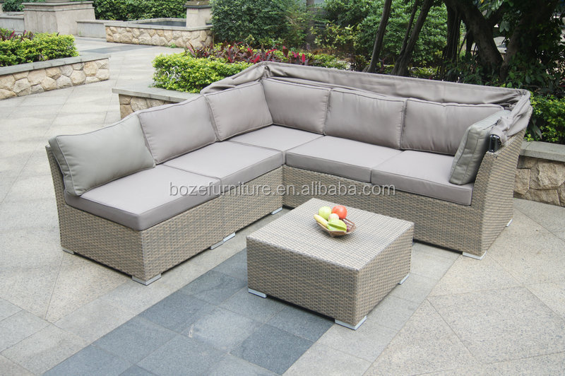 nuovo disegno di plastica in vimini rattan patio divano ad angolo ... - Ultimo Disegno Di Divano Ad Angolo