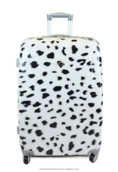 SNOW LEOPARD PC ABS HARDSIDE SPINNER SUITCASE BAG LUGGAGE