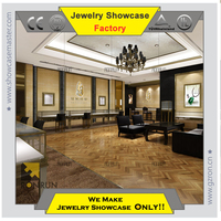 2015 Jewelry store display showcase jewelry store modern overall design top quallity business vetran