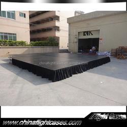 Non Slip wedding mandap stage outdoor performance stage platform with safety rail