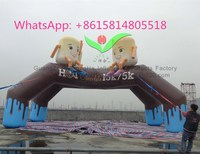 commercial grade digital printing cheap Inflatable Finish Line Arch advertising for sale