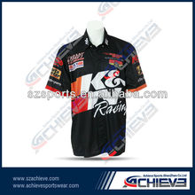 Cool motorcycle custom T-shirt for men custom made motorcycle/racing polo shirts,,sublimation high quality