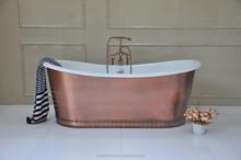 Copper Bathtub / Freestanding Copper Skirted Cast Iron Bathtub
