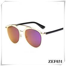Reflected Colorful women fashinon sunglasses UV400