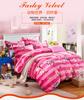 2015 High wholesale polyester coral fleece bedding set