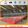 2015 China manufacture 3 axles 40ft container flatbed trailers sale with twist locks