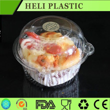 Clear disposable plastic cupcake tray