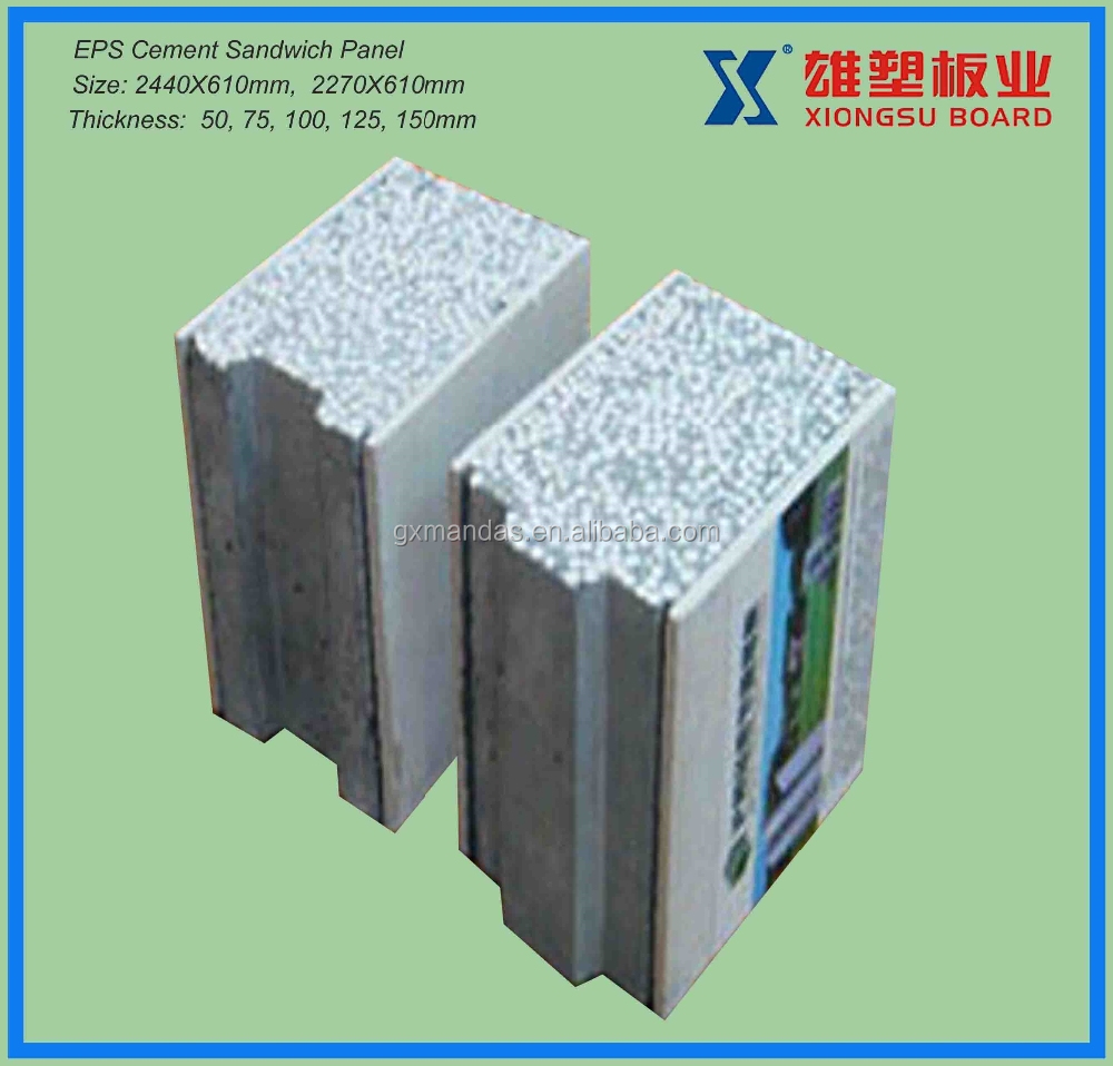 1 4 Eps Wall Panels : Eps sandwich wall panel cement partition