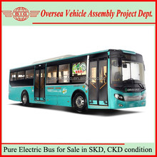 China Bus Manufacturer 40 Seats 60 Passengers Pure Electric City Bus for Sale