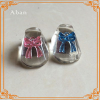 Lovely crystal baby shoe model for baby born souvenirs