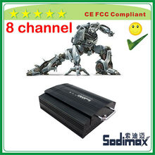 8 channel 700TVL camera 4D1 resolution 3G GPS WIFI bus and car MDVR
