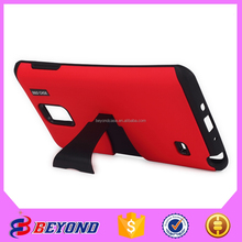 Mobile phone accessories factory in china 3 in 1 stand armor for Samsung Note 4 ,plastic packaging cell phone case for Note 4