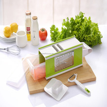 Useful 5 in1 Plastic Kitchen Vegetable Grater with Four Side