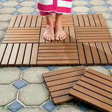 Durable Strand Woven Bamboo Decking Tile Unit for Outdoor Carbonized Color-KE-OS0825