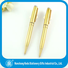 customized logo gold plating metal promotional pure cheap gold pen