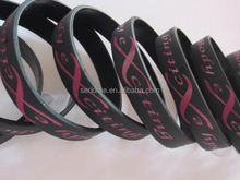 embroidery logo knitting wristband kids silicone ion sport band