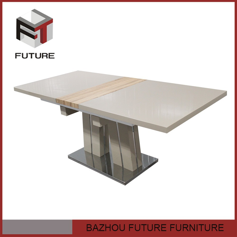 Extendable Stainless Steel Dining Table And Chair