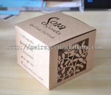 kraft paper bag for food packaging , custom laser cut kraft paper cookies boxes