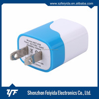 Wholesale 5v 2a slim micro plated portable usb wall charger charger