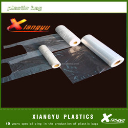 plastic packaging fiat bag on roll