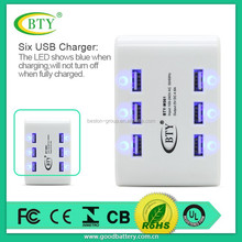 hot new products for 2015 quick wall usb charger with six usb ports 4.8amp