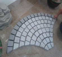 Chinese Grey G603 Cobblestone On Mesh Paving Stone