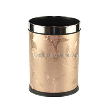 China Factory Round Hotel Leather Garbage Can (BWM1207)