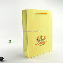 paper shopping bag with hand length handle