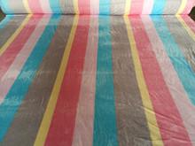 Strip Print Coral Fleece Fabric China Blankets Fabric