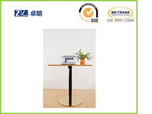 Pneumatic lifting desk with single leg and single direction