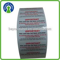 Eco friendly custom adhesive label printing,Warranty printing adhesive custom electronic component label