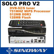 In stock SOLO PRO v2 HD digi satellite receiver DVB-S2 tuner Enigma 2 Linux DVB S decoder solo pro V2 DVB S2 device