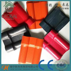 Hot selling synthetic resin acrylic clay roofing tile make in guangxi