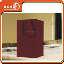 Greeting red wine paper bag with handle
