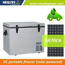 camping portable mobile car freezer fridge 12V 24V solar camping freezer fridge refrigerator