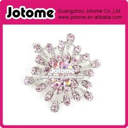 Snowflake crystal rhinestone brooch , wedding bridal brooch , large brooch wholesale