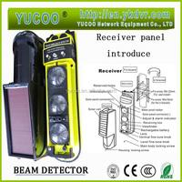 wireless beam detector solar transmitter reflective beam sensor