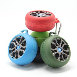 Exclusive tyre wireless bluetooth speaker loudspeaker with TF card slot FM radio
