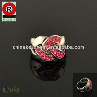 Fashion costume jewelry china cross winding unique finger rings
