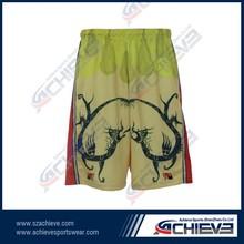 OEM sublimation modern lacrosse shorts practice lacrosse shorts
