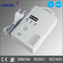 AC Power Alarm Gas Detector with 9V Battery Backup