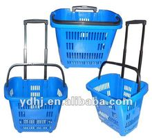 2012 Hot Sale!!! Durable Wheel Shopping Basket With Telescopic Handle