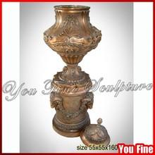 Decorative Unique Antique Bronze Large Urn with Lid
