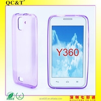2015 new product Wholesale clear tpu case Soft TPU Case Skin Cover For Huawei Y360