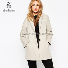 High quality polyester wholesale women beige winter jacket