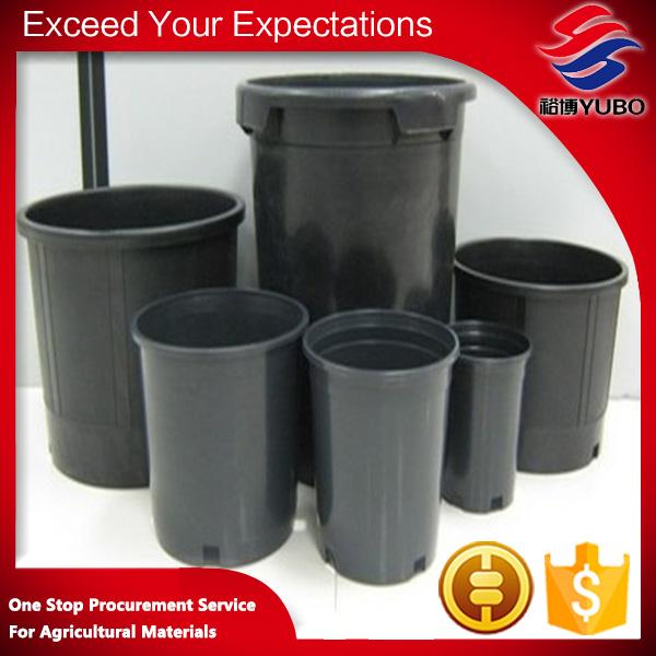 Galão preto pote 1 #2 #5 # <span class=keywords><strong>para</strong></span> berçário jardim planter vaso de plástico